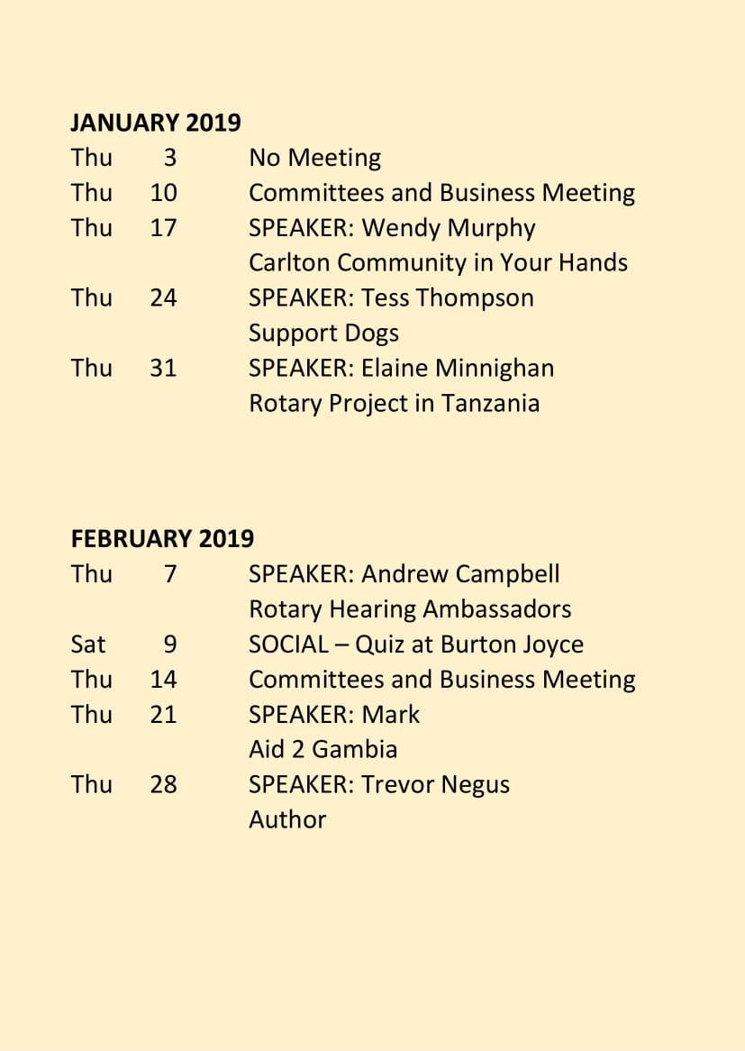 Carlton Programme Jan - June 2019-2